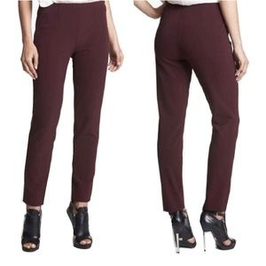 Maroon/Burgundy Theory Trousers